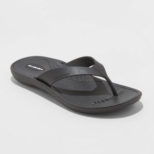 Women's Breeze Sustainable Flip Flop Sandals  Blac